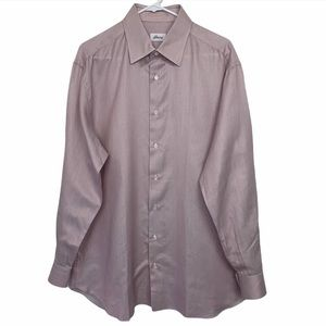 Brioni Long Sleeve Button Front Cotton Shirt Italy
